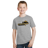 Youth Grey T-Shirt-Cameron Aggies Pick and Mountain