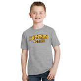 Youth Grey T-Shirt-Cameron Arched Aggies