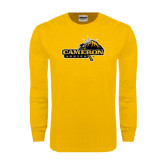 Gold Long Sleeve T Shirt-Cameron Aggies Pick and Mountain