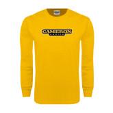 Gold Long Sleeve T Shirt-Cameron Aggies Flat