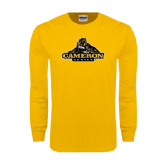 Gold Long Sleeve T Shirt-Cameron Aggies Miner