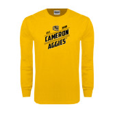 Gold Long Sleeve T Shirt-Slanted Est. 1908