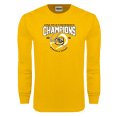 Gold Long Sleeve T Shirt-2016 Lone Star Conference Champions Womens Tennis