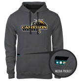 Contemporary Sofspun Charcoal Heather Hoodie-Cameron Aggies Pick and Mountain