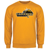 Gold Fleece Crew-Cameron Aggies Pick and Mountain