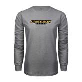 Grey Long Sleeve T Shirt-Cameron Aggies Flat