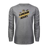 Grey Long Sleeve T Shirt-Slanted Est. 1908