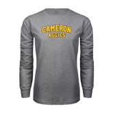Grey Long Sleeve T Shirt-Cameron Arched Aggies