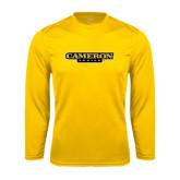 Syntrel Performance Gold Longsleeve Shirt-Cameron Aggies Flat