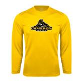 Syntrel Performance Gold Longsleeve Shirt-Cameron Aggies Miner