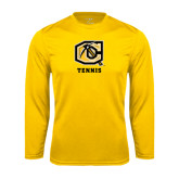 Syntrel Performance Gold Longsleeve Shirt-Tennis