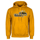 Gold Fleece Hoodie-Cameron Aggies Pick and Mountain