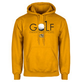 Gold Fleece Hoodie-Golf w/ Ball and Flag