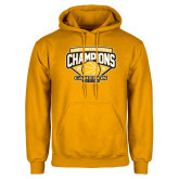 Gold Fleece Hoodie-Lone Star Conference Basketball Champs