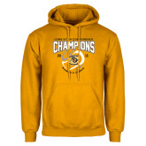 Gold Fleece Hoodie-2016 Lone Star Conference Champions Womens Tennis