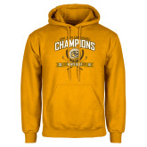 Gold Fleece Hoodie-2016 Lone Star Conference Champions Mens Golf