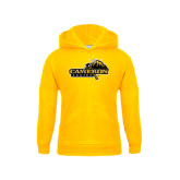 Youth Gold Fleece Hoodie-Cameron Aggies Pick and Mountain