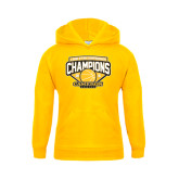 Youth Gold Fleece Hoodie-Lone Star Conference Basketball Champs
