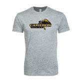 Next Level SoftStyle Heather Grey T Shirt-Cameron Aggies Pick and Mountain