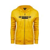 ENZA Ladies Gold Fleece Full Zip Hoodie-Cameron Aggies Flat