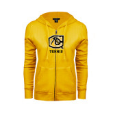 ENZA Ladies Gold Fleece Full Zip Hoodie-Tennis