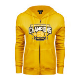 ENZA Ladies Gold Fleece Full Zip Hoodie-Lone Star Conference Basketball Champs