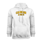 White Fleece Hoodie-Cameron Arched Aggies