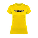Ladies Syntrel Performance Gold Tee-Cameron Aggies Flat