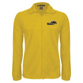 Fleece Full Zip Gold Jacket-Cameron Aggies Pick and Mountain