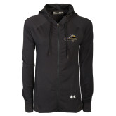 Ladies Under Armour Black Varsity Full Zip Hoodie-Cameron Aggies Pick and Mountain