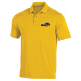 Under Armour Gold Performance Polo-Cameron Aggies Pick and Mountain