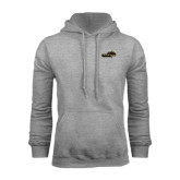 Grey Fleece Hoodie-Cameron Aggies Pick and Mountain
