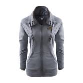 Ladies Sport Wick Stretch Full Zip Charcoal Jacket-Cameron Aggies Pick and Mountain