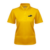 Ladies Gold Dry Mesh Polo-Cameron Aggies Pick and Mountain