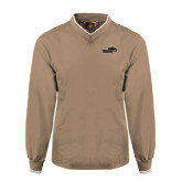 Khaki Executive Windshirt-Cameron Aggies Pick and Mountain