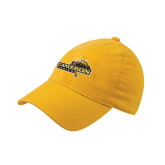 Gold Flexfit Mid Profile Hat-Cameron Aggies Pick and Mountain