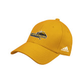 Adidas Gold Structured Adjustable Hat-Cameron Aggies Pick and Mountain