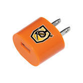 Orange USB A/C Adapter-Official Logo