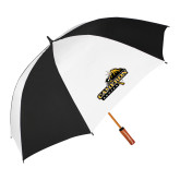 64 Inch Black/White Vented Umbrella-Cameron Aggies Pick and Mountain