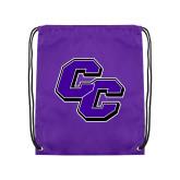 Purple Drawstring Backpack-CC