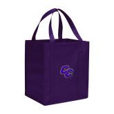 Non Woven Purple Grocery Tote-CC