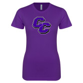 Next Level Ladies SoftStyle Junior Fitted Purple Tee-CC