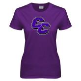 Ladies Purple T Shirt-CC