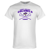 White T Shirt-Lacrosse