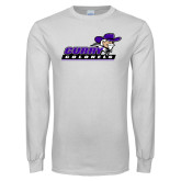 White Long Sleeve T Shirt-Curry Colonels