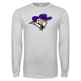 White Long Sleeve T Shirt-Colonel Head