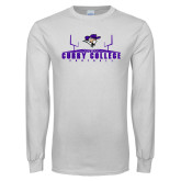 White Long Sleeve T Shirt-Football Field