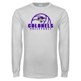 White Long Sleeve T Shirt-Volleyball