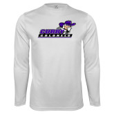 Performance White Longsleeve Shirt-Curry Colonels