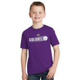Youth Purple T Shirt-Softball